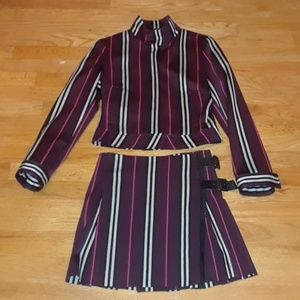 Burberry London Striped 2 piece Skirt/Jacket
